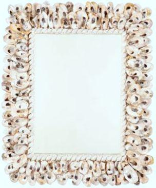 Oyster shell mirror by Ballard Designs