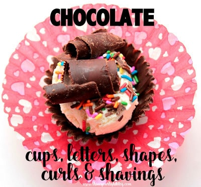 how to make chocolate cups, letters, shapes, curls and shavings