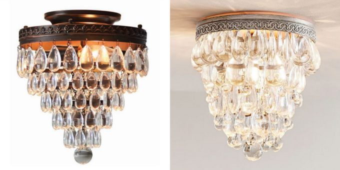 Allen + Roth and Pottery Barn Crystal Flush Mount Lights