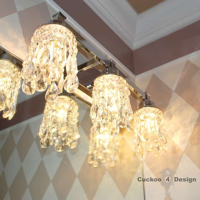 DIY crystal light shades