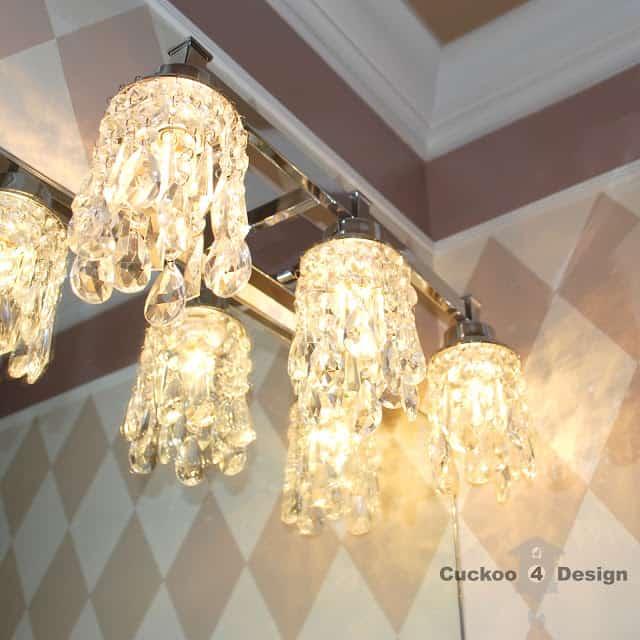 DIY crystal light shades