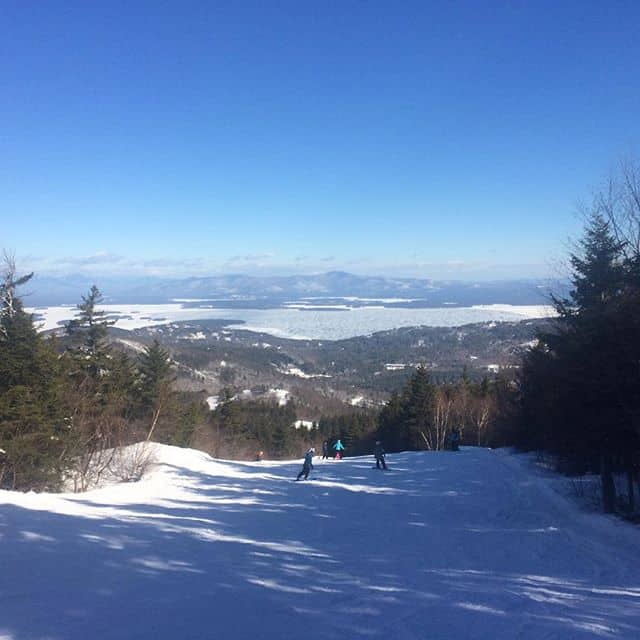 Skiing at Gunstock Mountain in New Hampshire