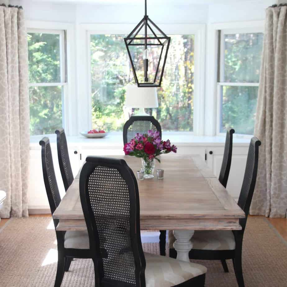 Thrift store chairs and table from Craigslist | Shine Your Light