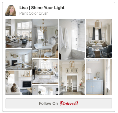 Shine Your Light blog's Paint Color Crush Pinterest board