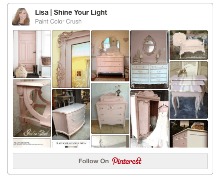 Pinterest board devoted to paint colors