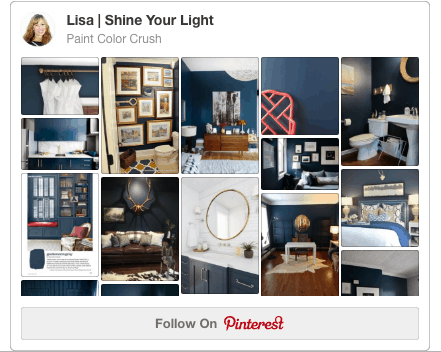 A Pinterest board devoted to gorgeous paint colors and designs around them.