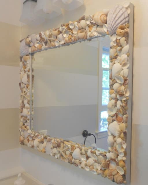 DIY shell mirror