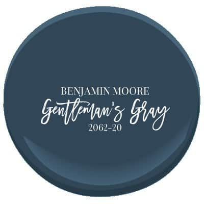 Benjamin Moore's Gentleman's Gray is a rich, teal blue navy.