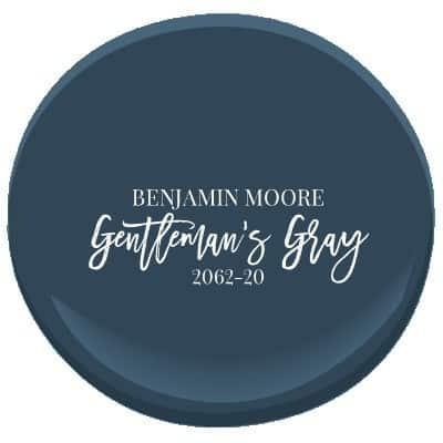 Benjamin Moore's Gentleman's Gray is a rich, teal blue navy.