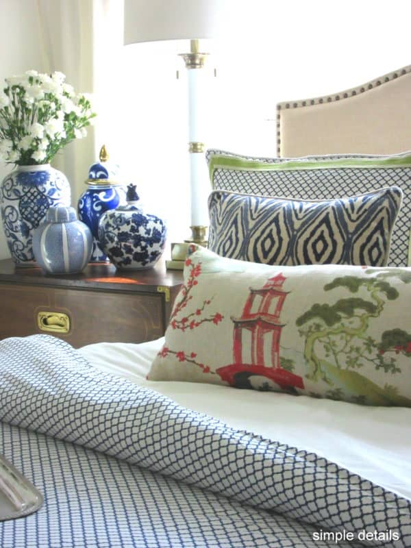 A bedroom refresh using Crane & Canopy's bedding, via Simple Details blog.