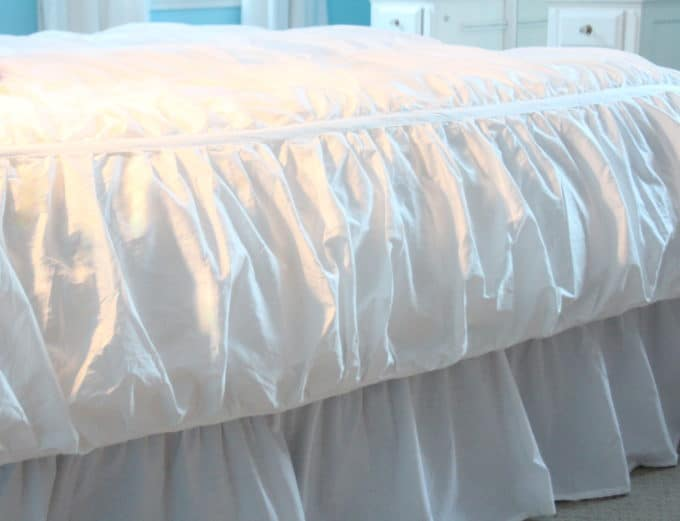 The ruched Mirabel duvet from Crane & Canopy.