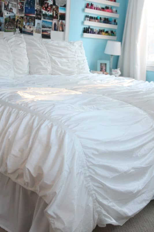 I Love The Feminine, Ruched Style Duvet Because It Has A Naturally Rumpled  Look To It. Perfect For A 16 Year Old Who Climbs Into Bed After Lacrosse  Practice ...