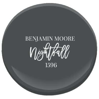 Benjamin Moores Nightfall paint color.