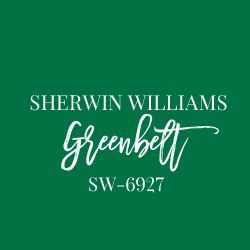 Sherwin Williams Greenbelt is a rich, bright kelly green.