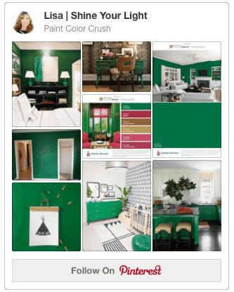 Shine Your Light Blog's Paint Color Crush Pinterest Board