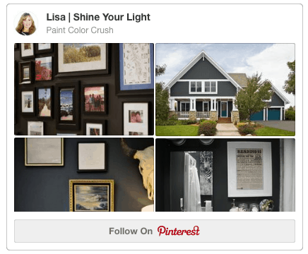 A Pinterest board devoted to paint colors