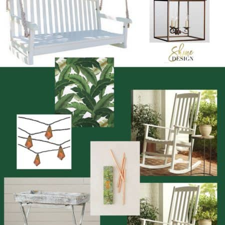 Sherwin Williams Shamrock paint in a porch design