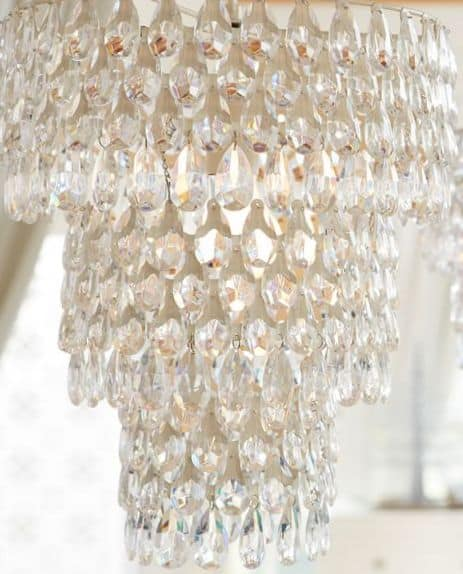 Pottery Barns Teardrop Chandelier.