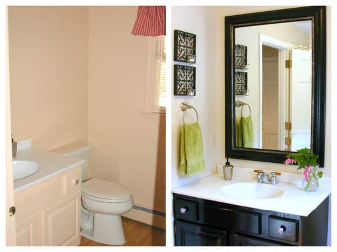 One Room Challenge bathroom before the makeover via Shine Your Light blog.