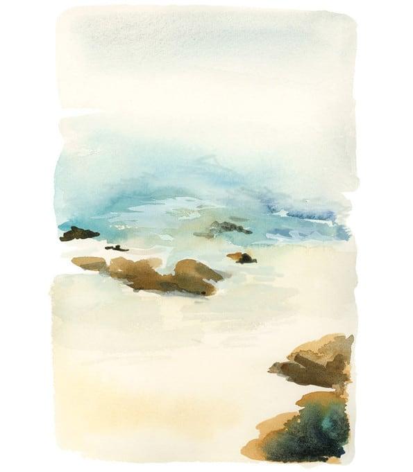 Beach print by Yao Cheng via Minted