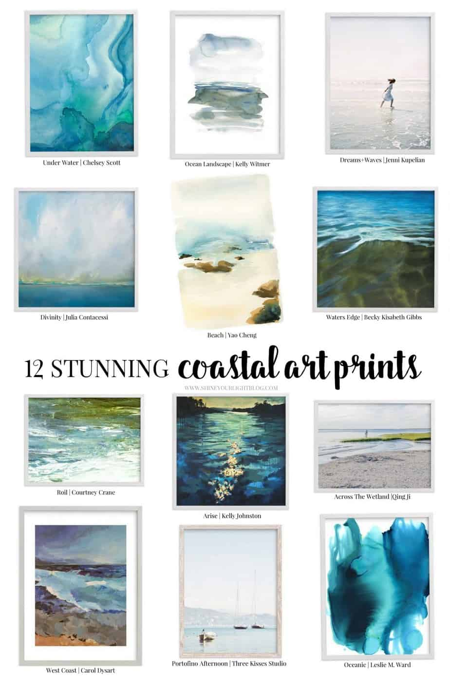 Stunning coastal art limited edition prints.
