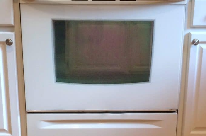 How to clean your oven glass with no harmful chemicals.