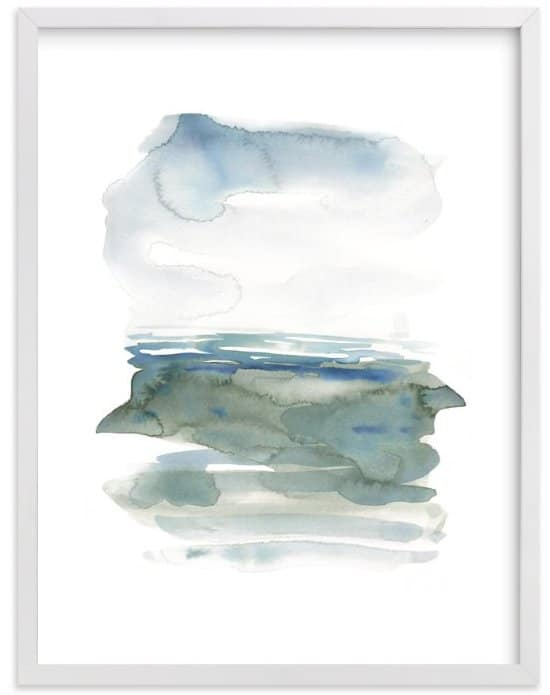 Ocean Landscape print by Kelly Witmer via MInted.