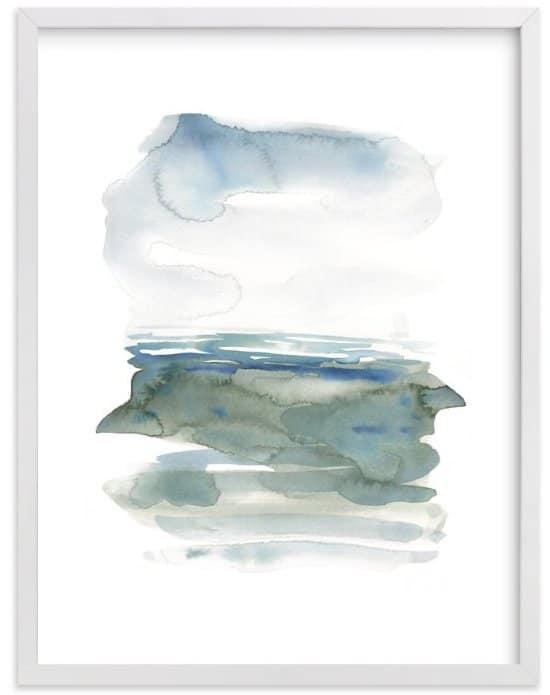 Ocean Landscape print by Kelly Witmer via MInted.