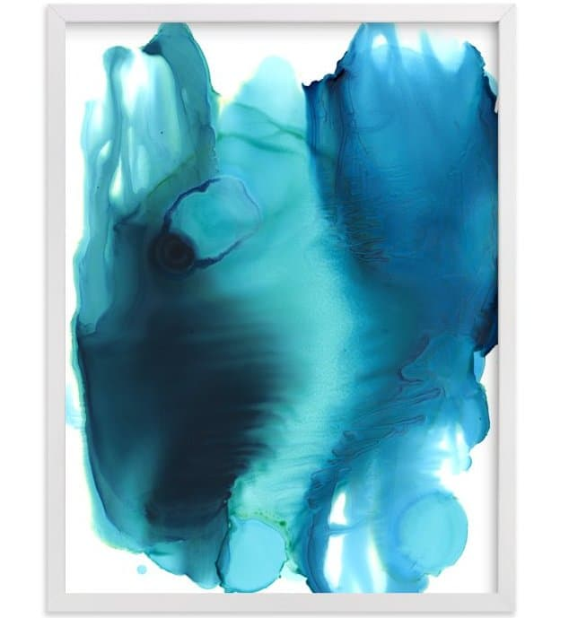 Oceanic print by Leslie M. Ward via MInted.