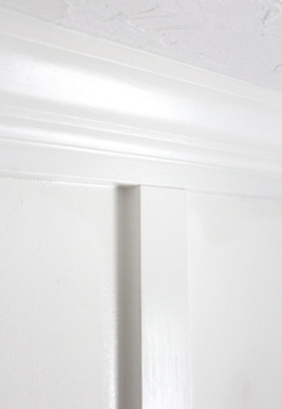 "Crown moulding installed over a 2"" base gives the finished product a more dramatic feel."
