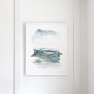 """Ocean Landscape"" watercolor print by Kelly Witmer"