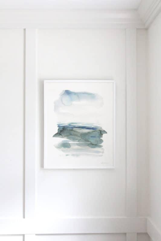 """Ocean Landscape"" watercolor print by Kelly Witmer"