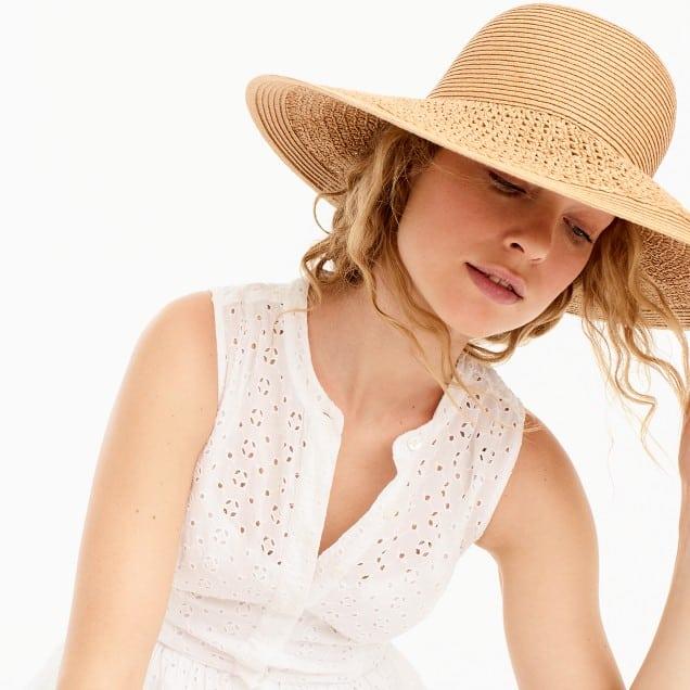 J Crew's summer straw hat