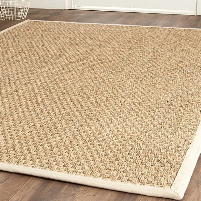 A bound seagrass rug brings warmth and texture to a room.