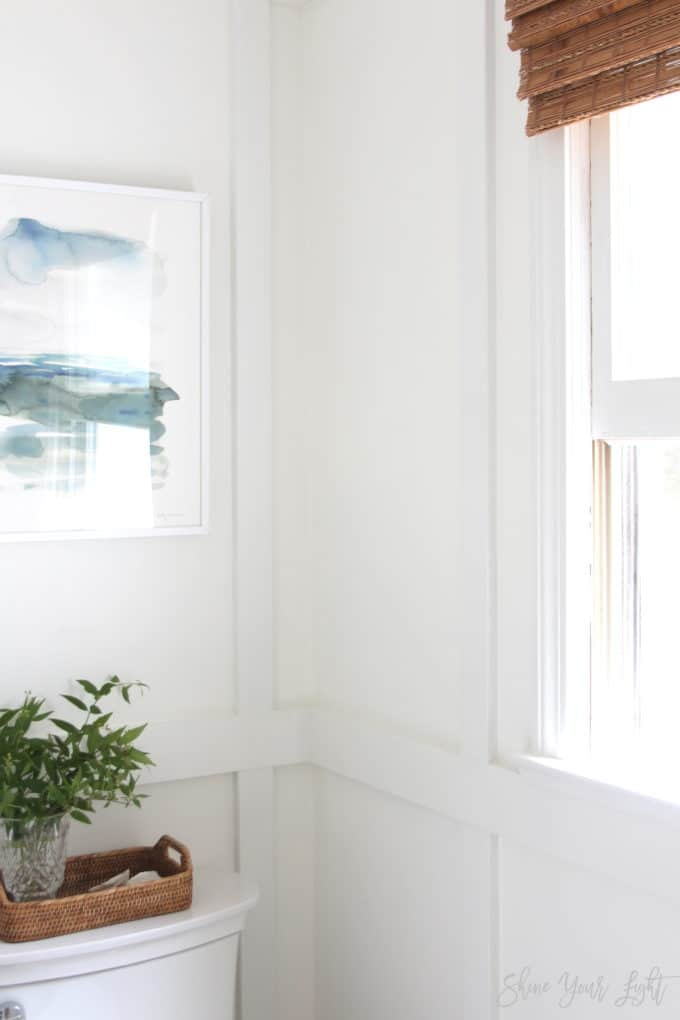 Board and batten boxes that wrap around wall corners | Shine Your Light blog