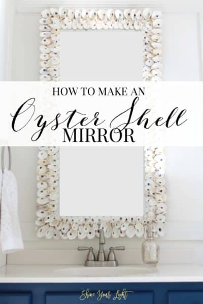 How to clean oyster shells and create a beautiful one of a kind mirror with them.