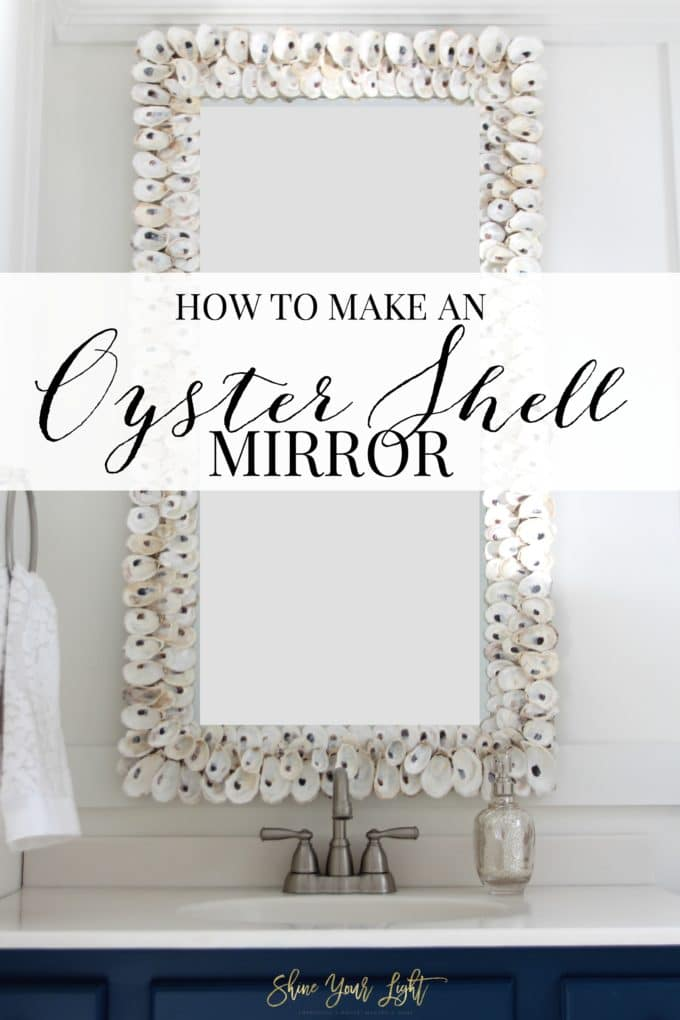 A tutorial for how to make an oyster shell mirror