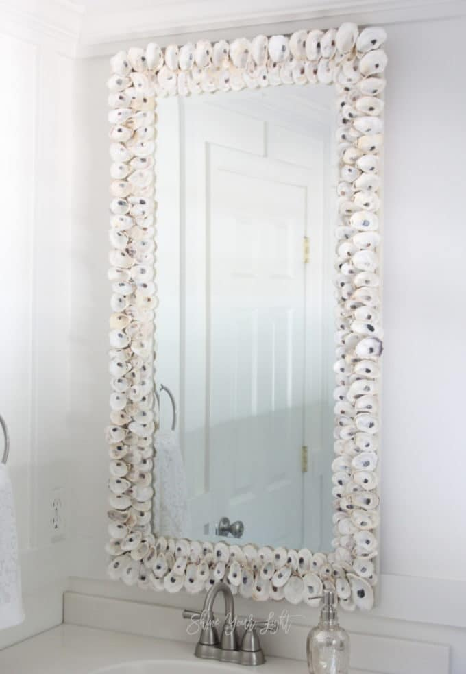 DIY oyster shell mirror | Shine Your Light