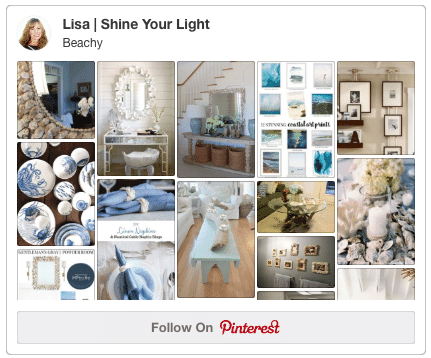 A Pinterest board dedicated to shell mirrors and all things beachy!