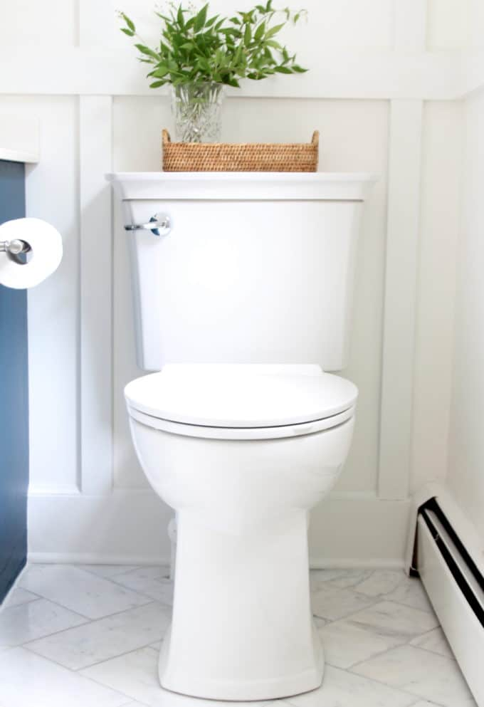 This toilet has a light and deep cleaning mode with the push of a button!