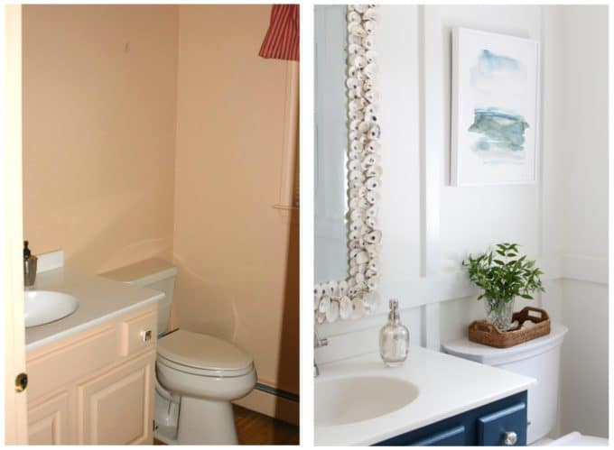 Bathroom Before and After | Shine Your Light Blog