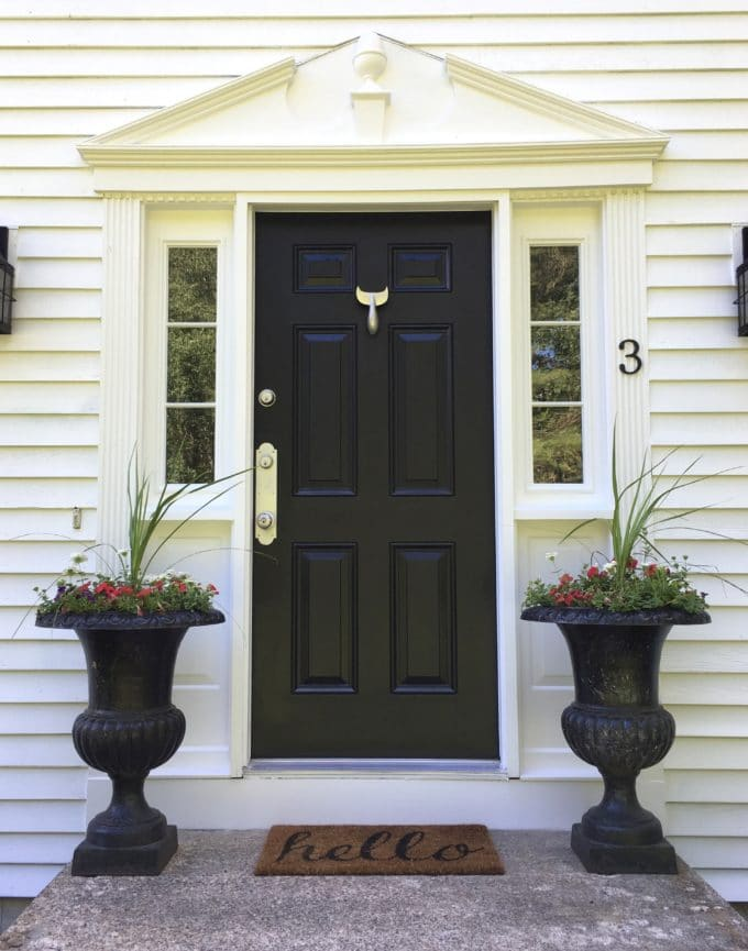 Classic New England colonial front door