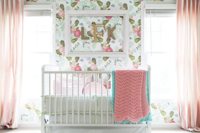 A French-inspired nursery for a baby girl. | Style Your Senses