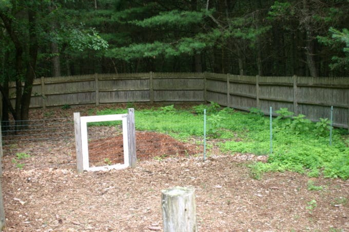 A Massachusetts backyard before a makeover.
