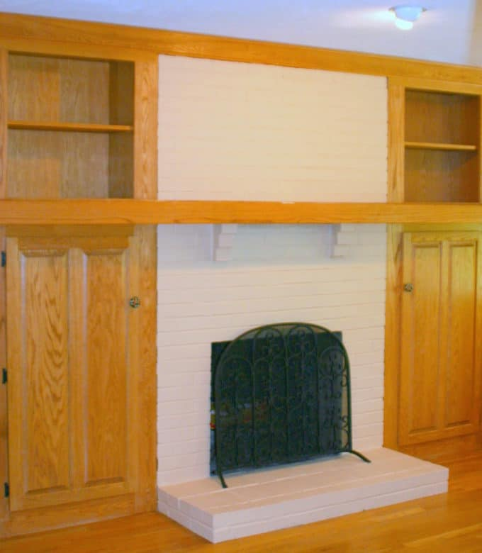 An 80s era fireplace gets a dramatic makeover
