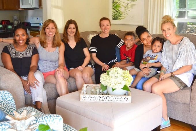 Bloggers Hearth Habitat group with the wonderful family.