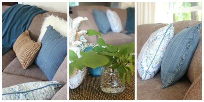 Throws and pillows bring so much life to a room design.