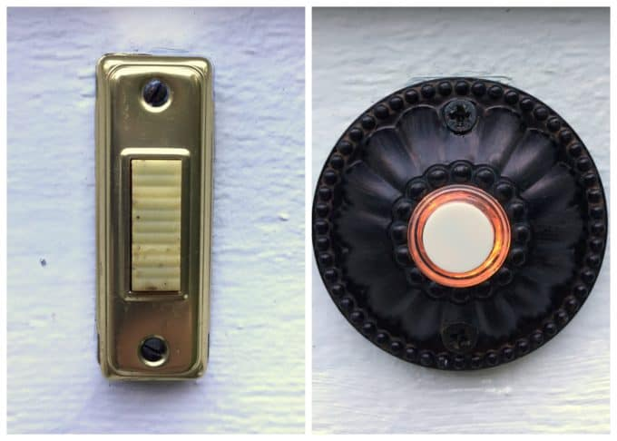 Replacing a doorbell button is a simple upgrade.