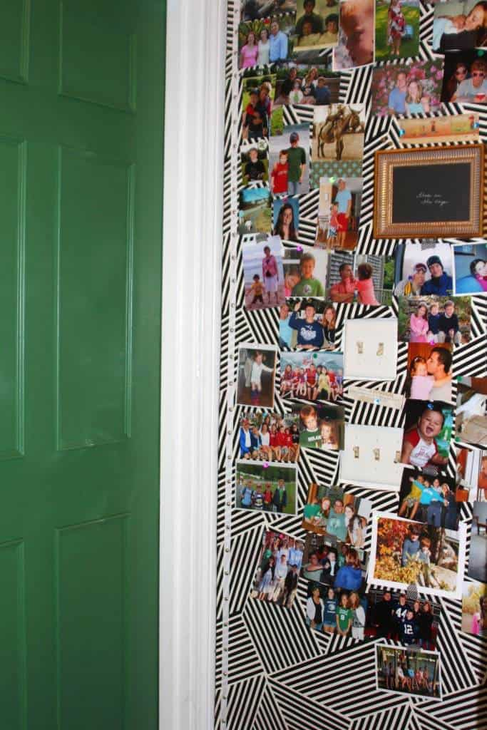 Fabric covered photo bulletin board is very easily to install.