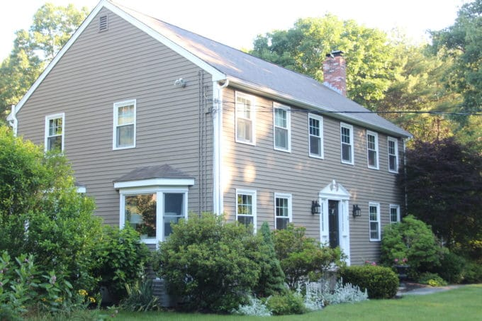 A standard colonial in New England.